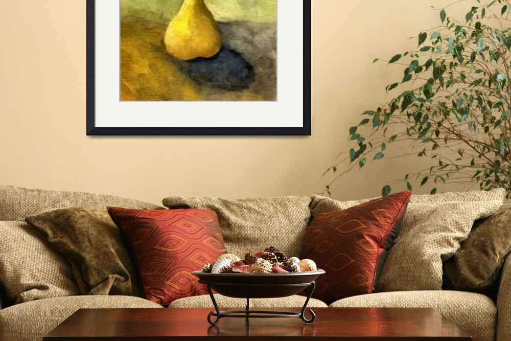 """Pear Still Life with Green and Brown&quot  (2007) by Michelle1991"