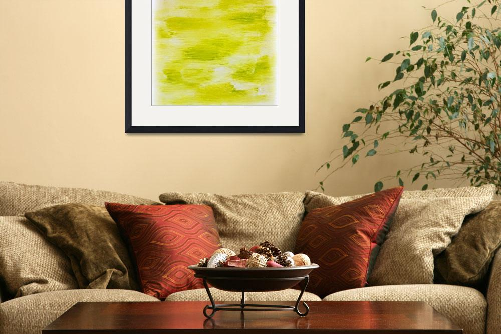 """""""Lime Green Abstract&quot  (2015) by jadeevalley"""