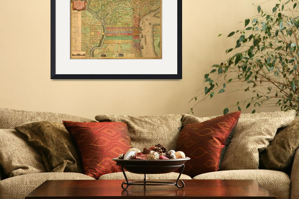 """Vintage Map of Philadelphia Pennsylvania (1802)&quot  by Alleycatshirts"