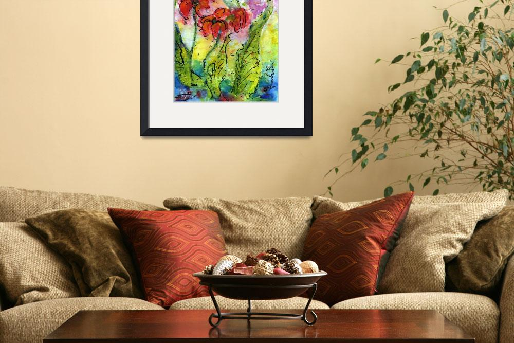 """""""Parrot Pitcher Plant Nature Flower Painting&quot  (2012) by GinetteCallaway"""