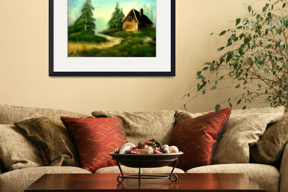 """""""An old cabin in the wild&quot  (2010) by RT3D"""
