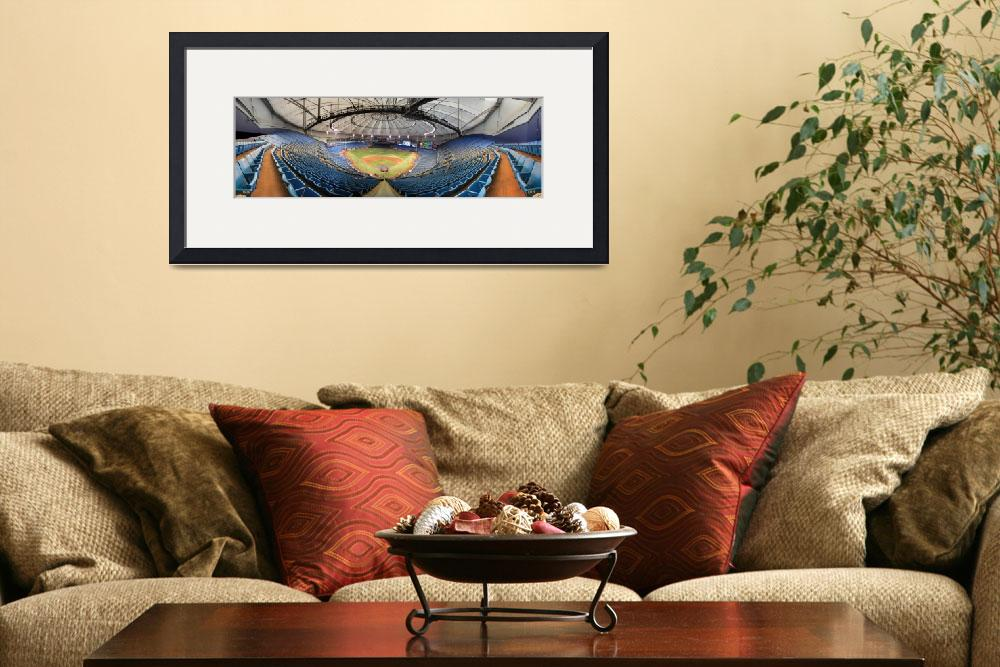 """""""Tropicana Field Panorama - Tampa Bay Rays&quot  by augiespanoramas"""