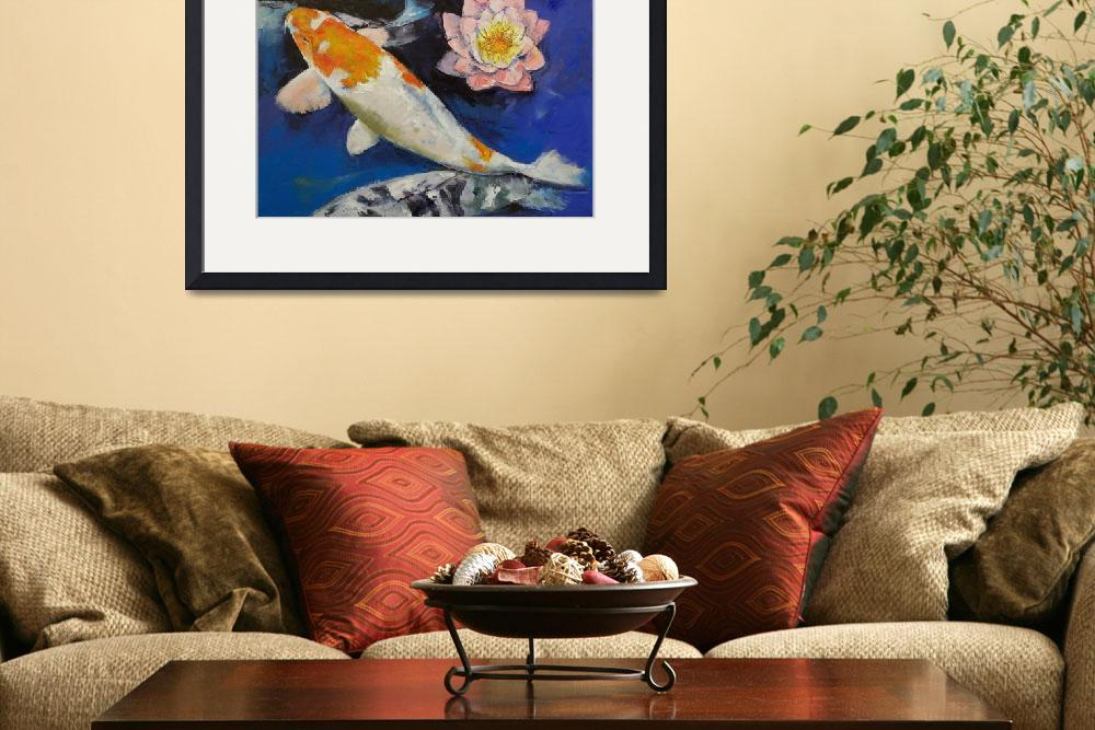 """""""Gin Rin Koi and Water Lily""""  by creese"""