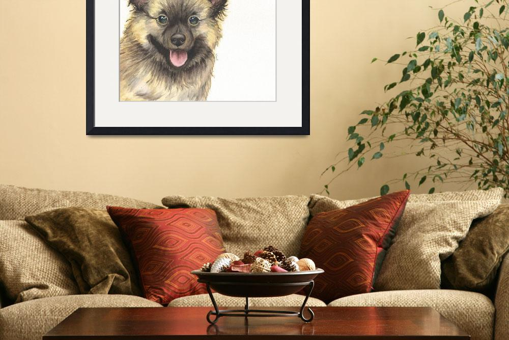 """""""Ace the Naughty Nibbler Keeshond&quot  (2014) by Designomel"""
