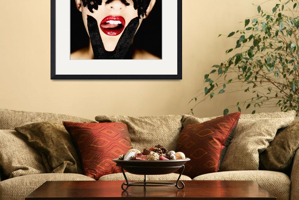 """""""VX Red Lips Pink Tongue&quot  by surxposed"""