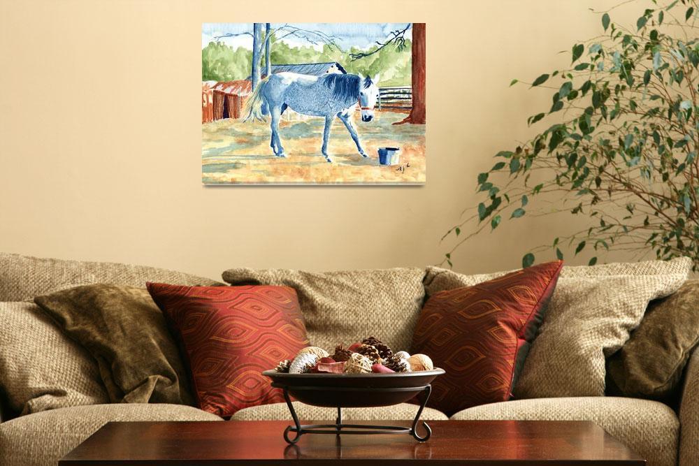 """My Blue Horse""  (2003) by mozache"
