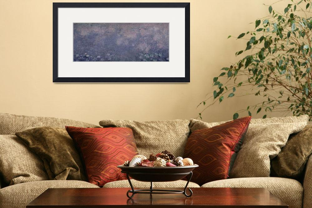 """""""Waterlilies: Two Weeping Willows, centre right sec&quot  by fineartmasters"""