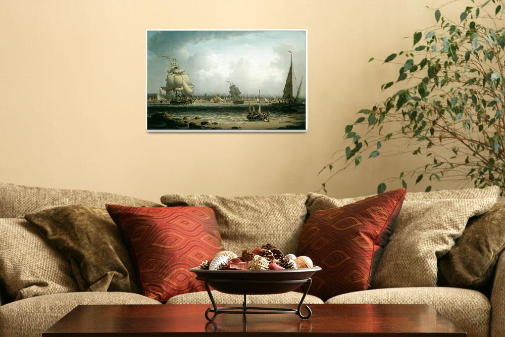 """""""View of Liverpool by Robert Salmon&quot  by ArtLoversOnline"""