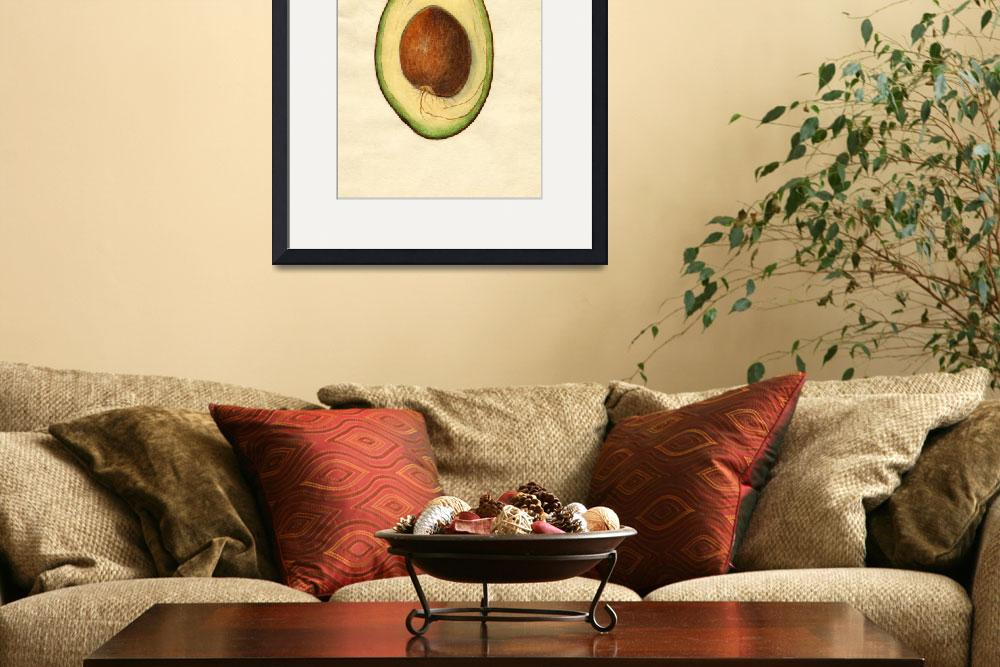 """""""Vintage Illustration of an Avocado&quot  by Alleycatshirts"""