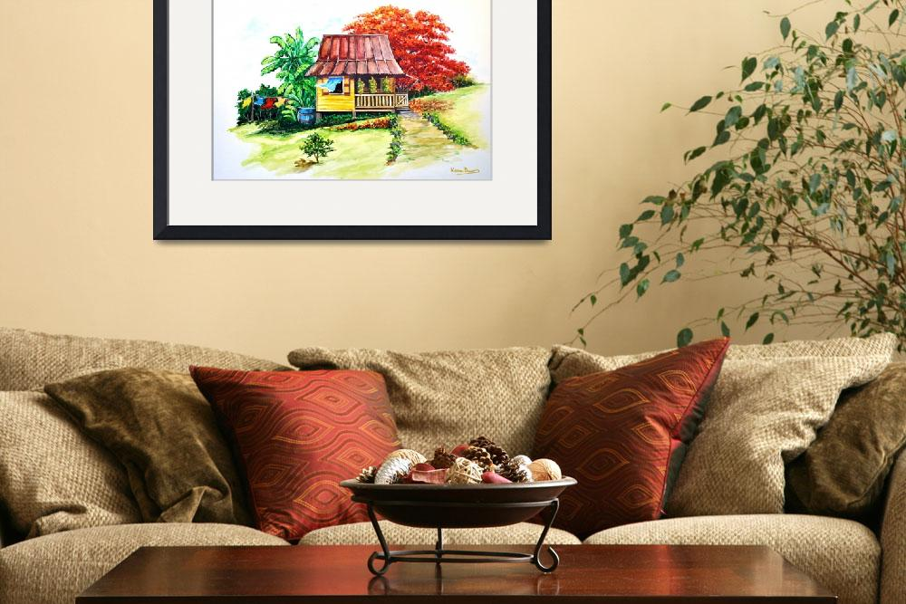"""""""caribbean house on the Hill  3&quot  by cassiakdkb"""