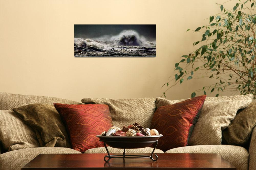 """""""Monster of the Seas Beach Waves Panorama""""  by travel"""
