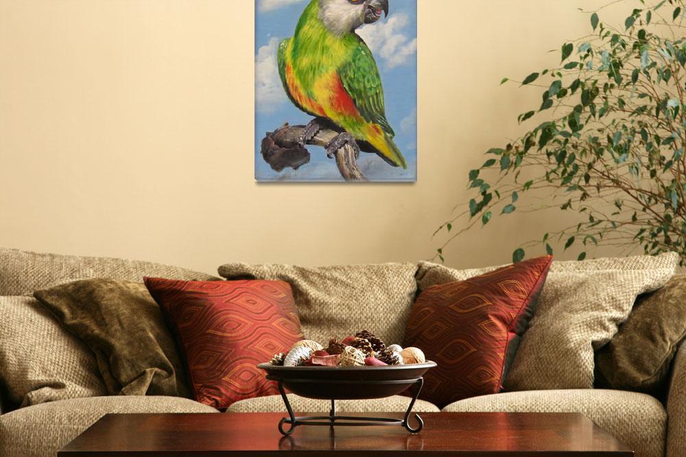 """""""Parrot In Blue""""  (2011) by shajipanthayil"""