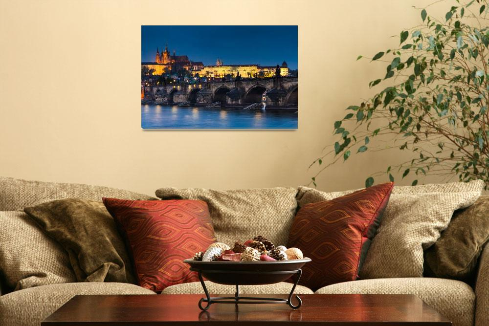 """""""Charles Bridge and Castle, in Prague""""  (2012) by emicristea"""