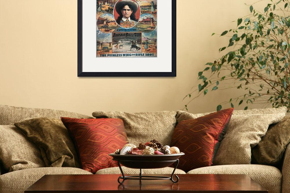 """""""Annie Oakley Wild West Vintage Poster&quot  by fineartmasters"""