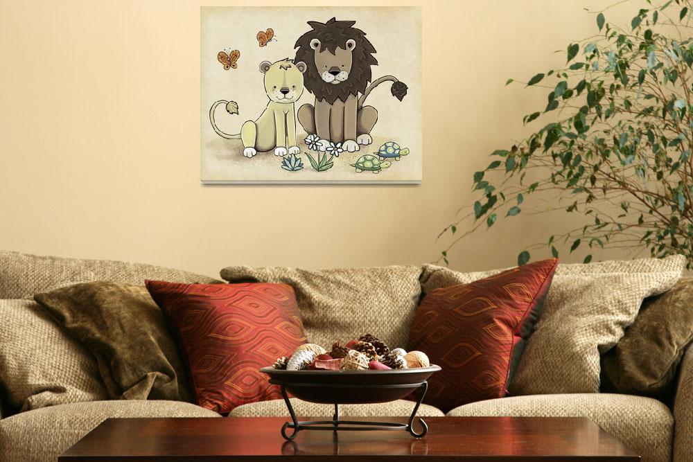 """""""Lions - Two by Two&quot  (2012) by Littlepig"""