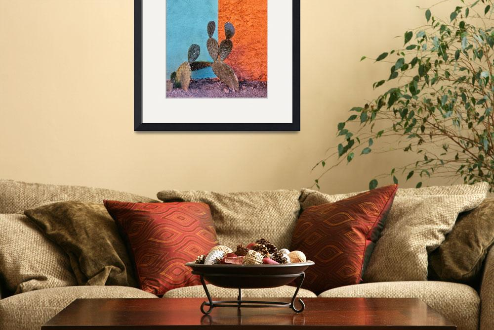 """""""Cactus and colorful wall&quot  (2012) by MattSuess"""