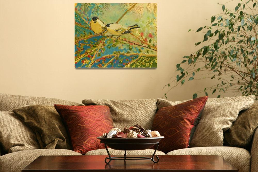 """""""Two Goldfinch Found&quot  (2008) by JENLO"""