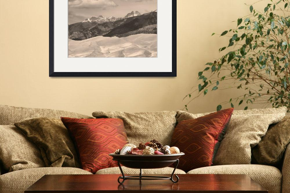 """""""The Great Sand Dunes Sepia Print 45&quot  (2010) by lightningman"""