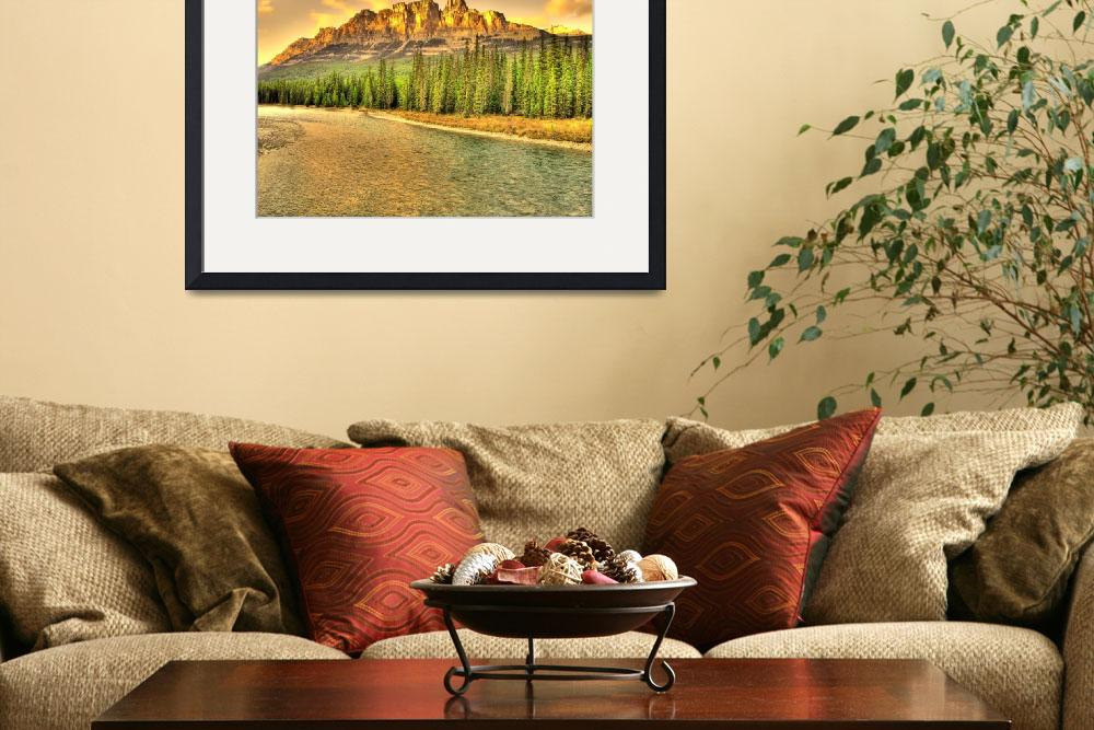 """""""Castle Mountain Sunset""""  (2008) by ChristopherBSmyth"""