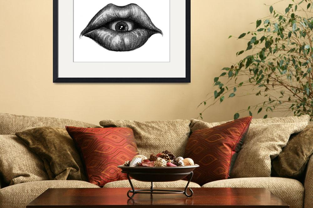 """""""Eyesuck&quot  (2012) by ajkartworks"""