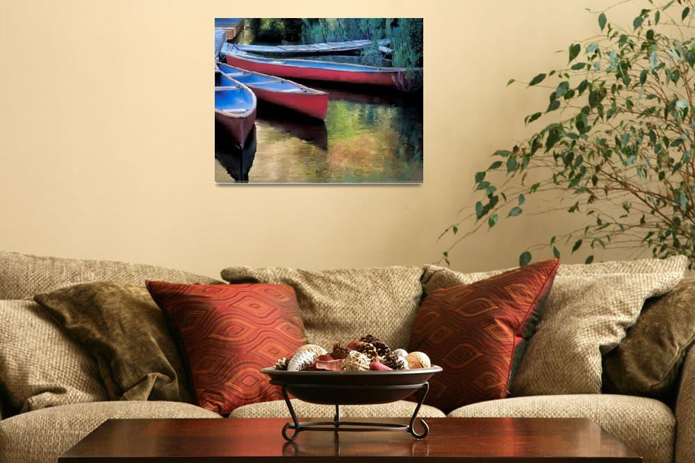 """""""Canoes At Rest&quot  (1995) by AuraleeDallas"""