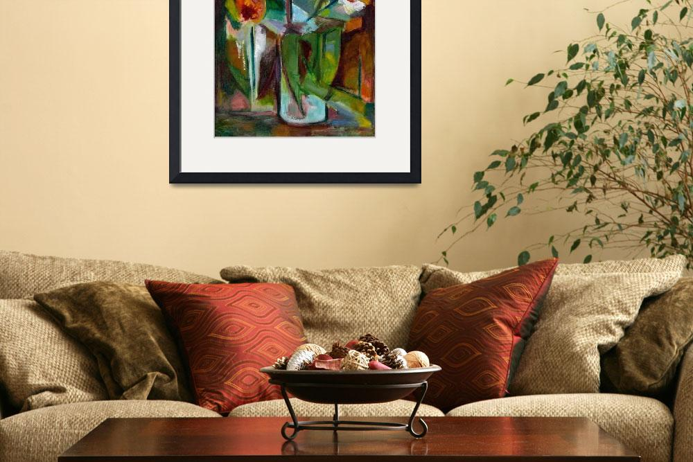 """Abstract Floral Still Life Oil Painting&quot  (2009) by WieberArt"