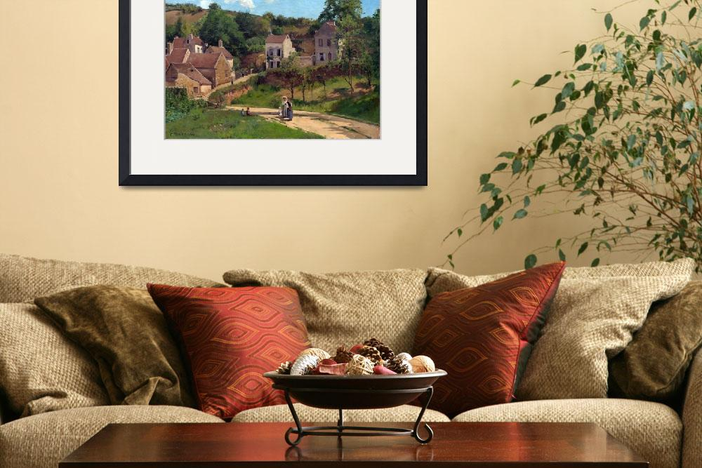 """""""Camille Pissarro The Hermitage at Pontoise&quot  by PDGraphics"""