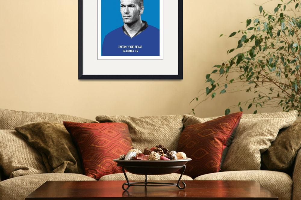 """My Zidane soccer legend poster&quot  by Chungkong"