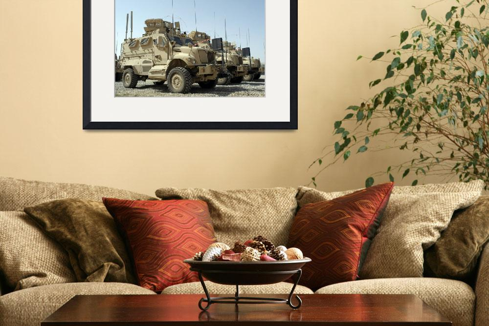 """""""Mine Resistant Ambush Protected vehicles sit in pa&quot  by stocktrekimages"""