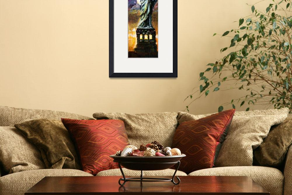"""""""Statue Of Liberty New York Oil Painting&quot  (2014) by GinetteCallaway"""