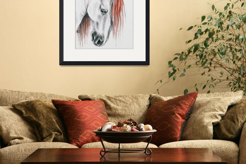 """""""Andalusian horse red mane&quot  by artdeep"""