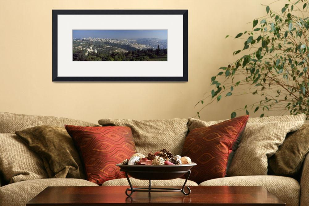 """""""House in a village on a hill Jerusalem Israel""""  by Panoramic_Images"""