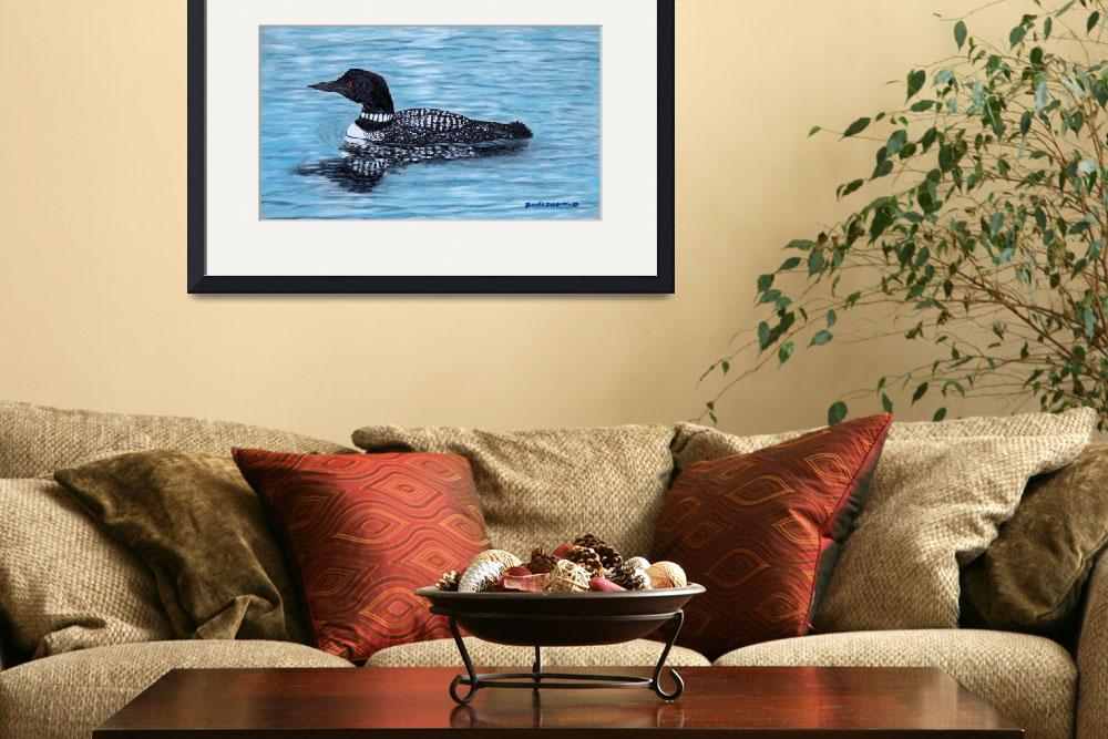 """Northern Lake Loon by Brenda Doberstein&quot  by"