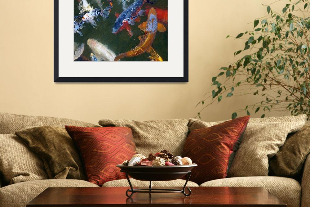 """""""Koi Fish in a Pond&quot  (2013) by swagmaven"""