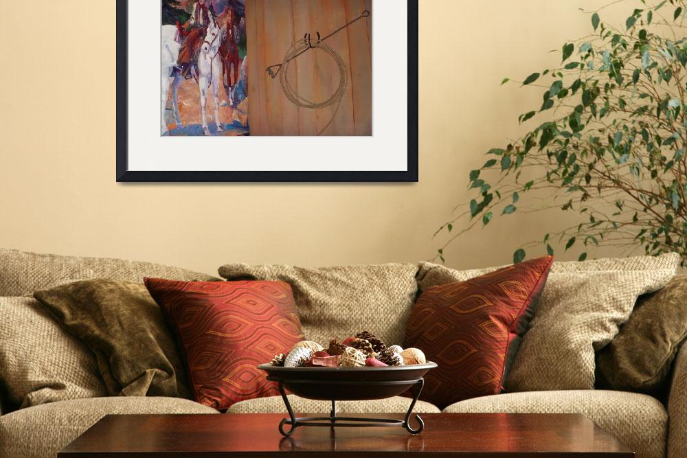 """""""Cow Boy Mural with Lariat&quot  (2008) by decal5"""