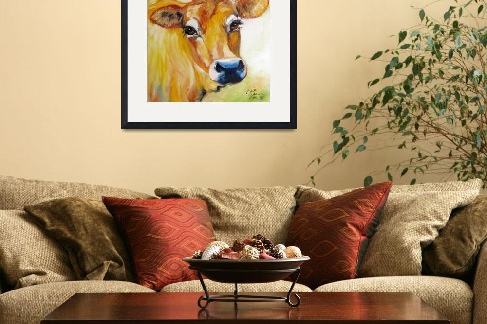 """THOSE EYES JERSEY COW""  (2009) by MBaldwinFineArt2006"