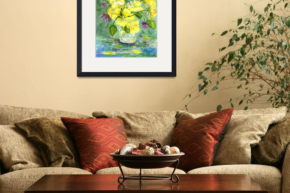 """Yellow Bouquet&quot  (2009) by MannellGallery"