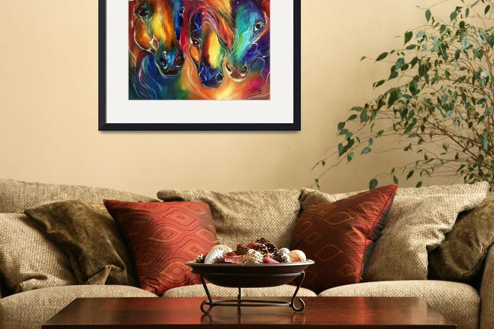 """""""COLOR MY WORLD WITH HORSES&quot  (2014) by MBaldwinFineArt2006"""