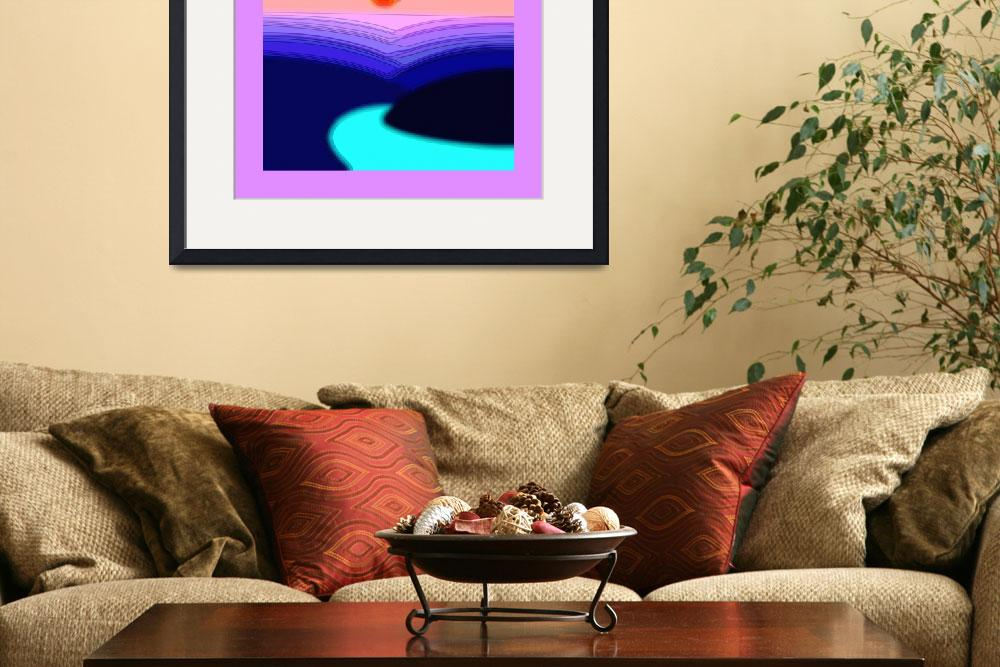 """""""Hazy Winding River Gorge 4 w/ large border""""  (2013) by TheNorthernTerritory"""