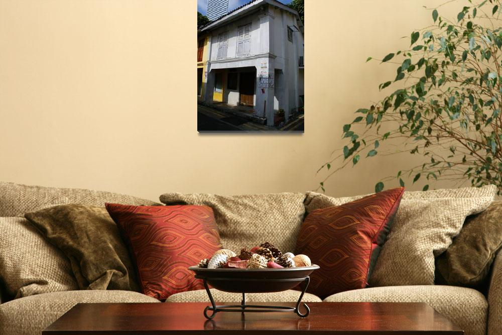 """""""Old Pre-War Shophouse""""  (2013) by julianwphoto"""