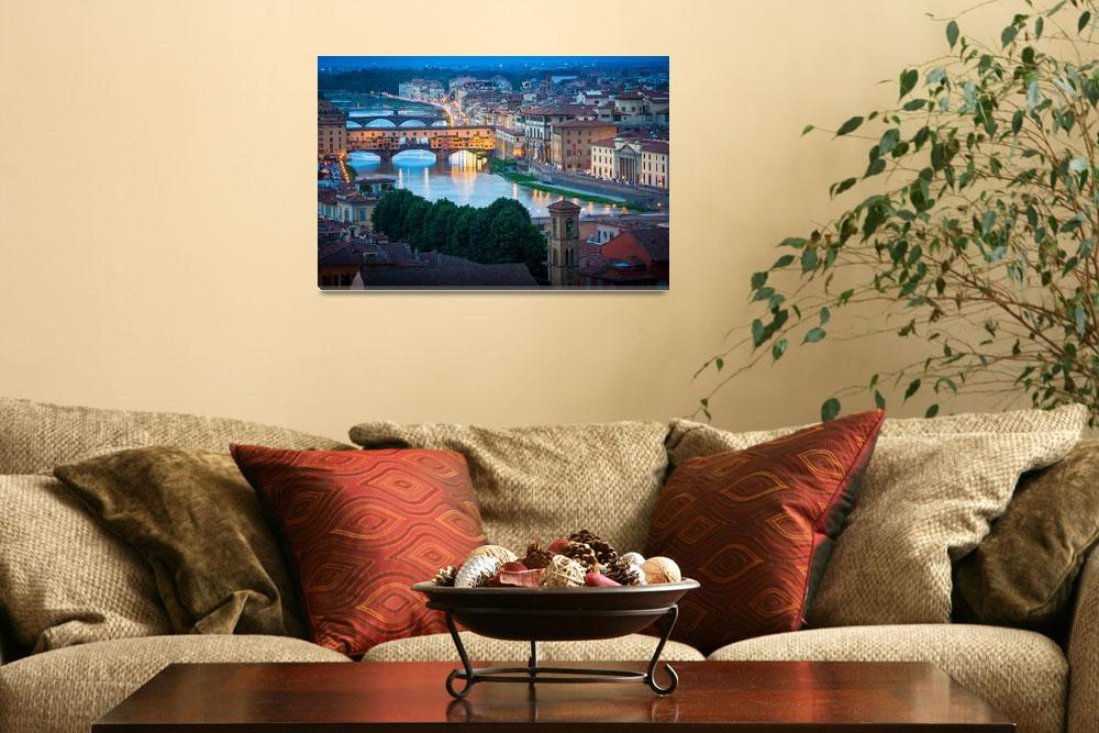 """""""Arno and Ponte Vecchio&quot  (2013) by Inge-Johnsson"""