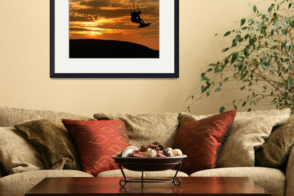 """""""Kristine Boese - Sunset Kite Surf&quot  (2009) by JessicaShellPhotography"""