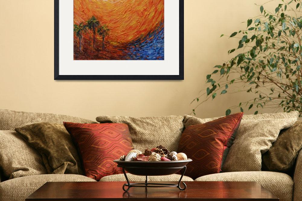 """""""Palm Tree Paintings & Designs&quot  (2012) by AngelineMarieArt"""