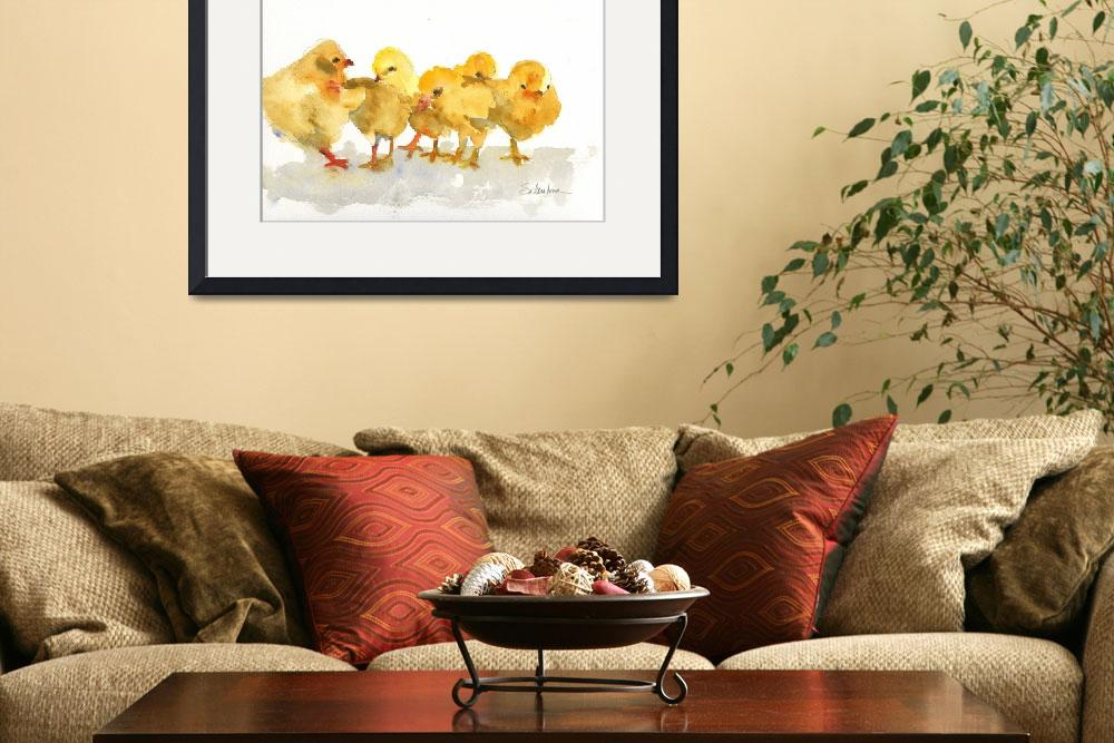 """Easter Chicks""  (2007) by schulmanart"