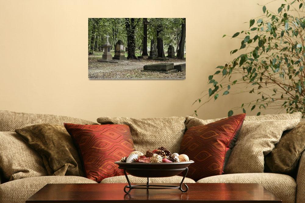 """Cemetery in autumn.""  by FernandoBarozza"