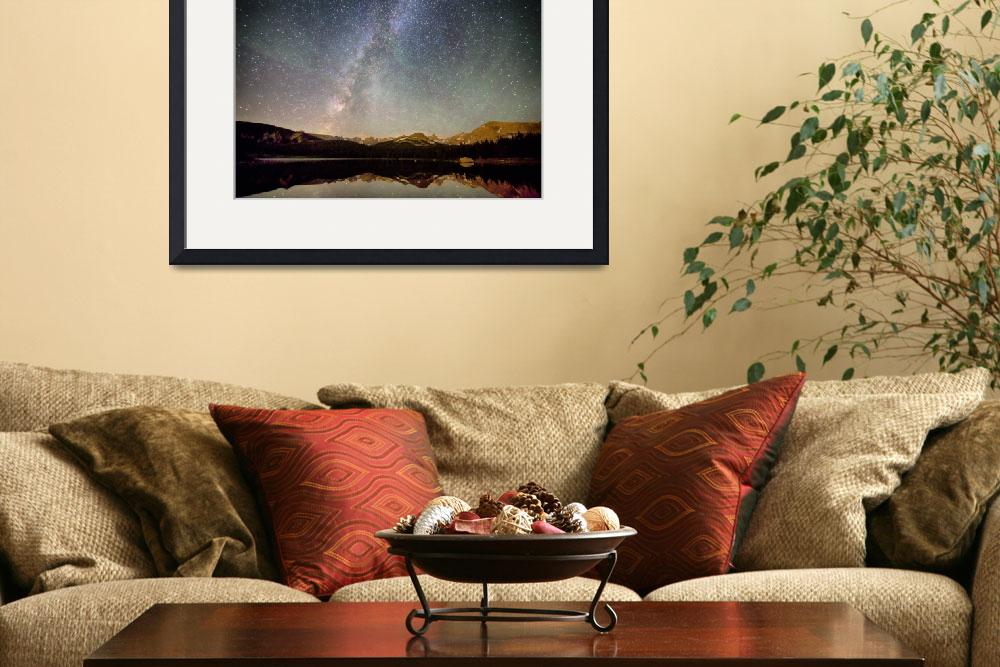 """""""Milky Way Over The Colorado Indian Peaks&quot  (2014) by lightningman"""