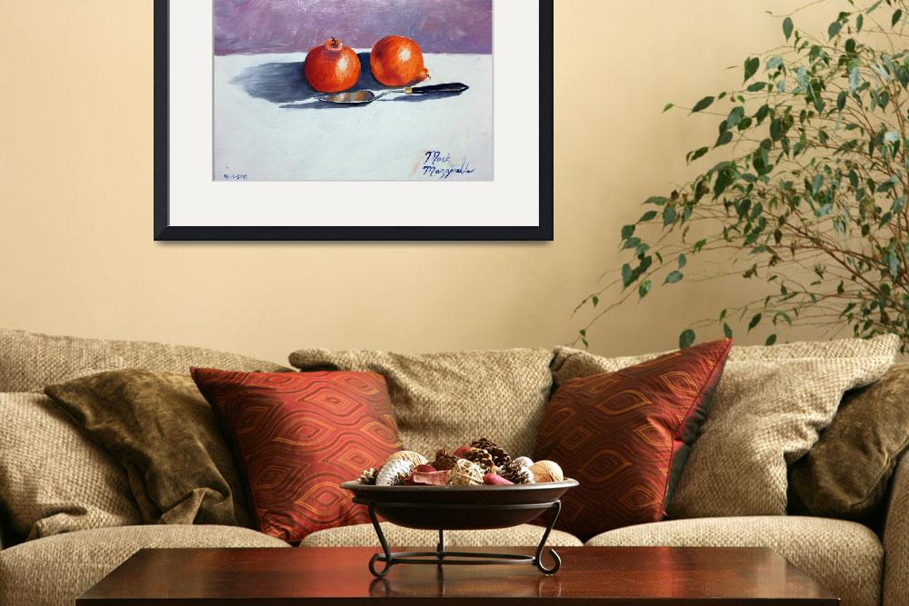 """""""Honeybell Oranges and Palette Knife""""  (2013) by mazz"""