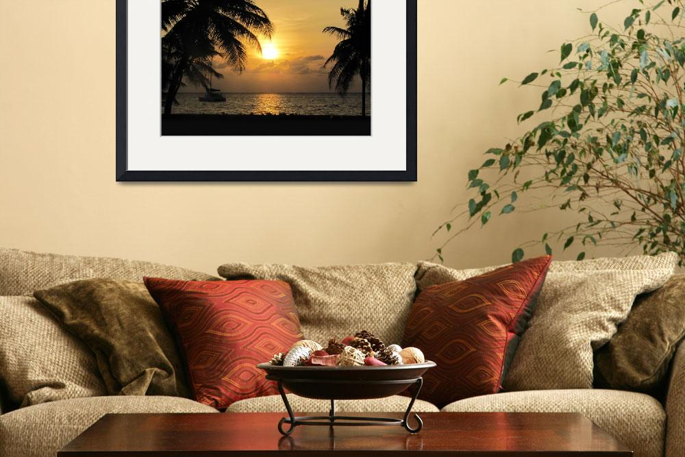 """""""Caribbean Sunset&quot  (2009) by TealDesign"""