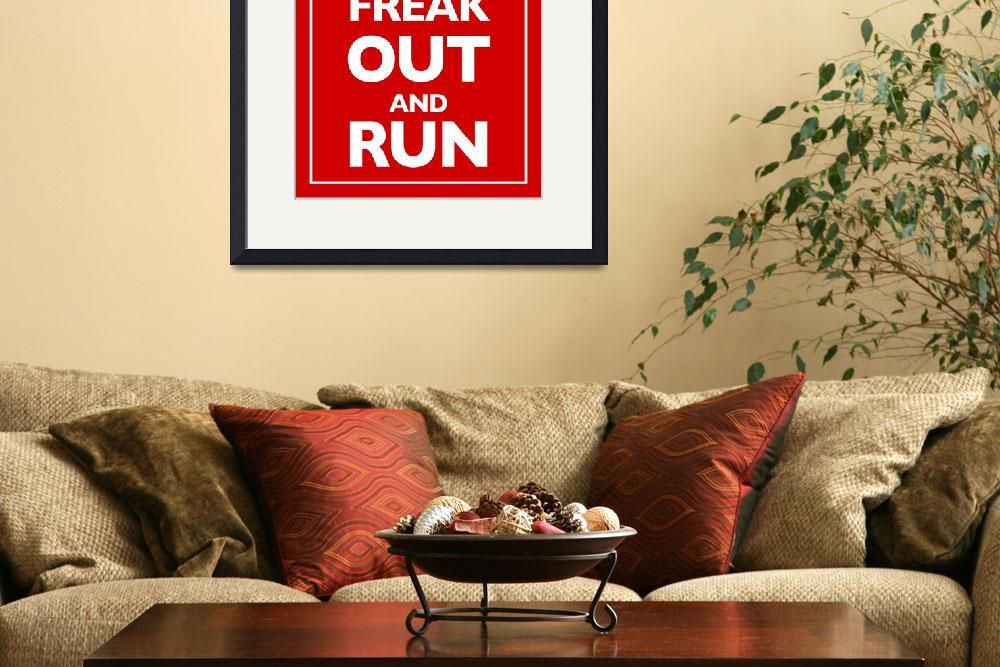 """""""Keep Calm and Carry On Parody Red&quot  (2013) by RubinoFineArt"""