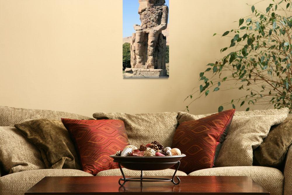 """""""Colossi of Memnon statute&quot  by rhallam"""